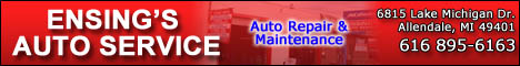 Ensing's Auto Service Coupons Deals Specials Allendale MI | SuperSavings.com